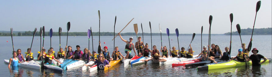 Group Photo - Summer Camp at Petrie Island Canoe Club Paddles Up
